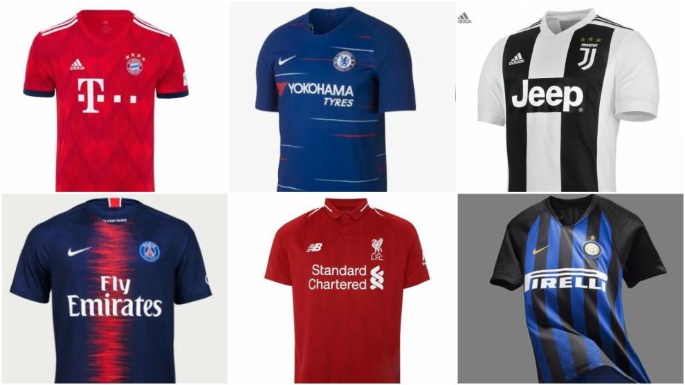 9eb25c4f50a88 Las nuevas camisetas de los mejores equipos de las ligas extranjeras ...