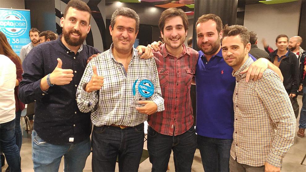 De izquierda a derecha, el equipo de MARCA: Jon Prada, Pablo Brotons,...