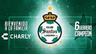 Charly Fútbol le da la bienvenida a Santos