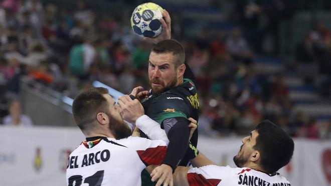 El central luso Filipe Mota en el pasado partido de Copa del Rey ante...