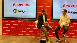 Iker Casillas, en la sede de LaLiga, durante su presentación con...