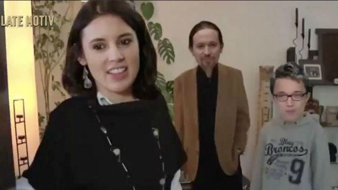 La parodia de Iglesias, Montero y Errejón en Late Motiv
