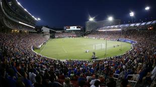 Panorámica del estadio Nippert durante un partido del FC Cincinnati.