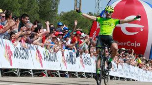Jon Aberasturi, vencedor en la Vuelta a Aragón (Caspe).