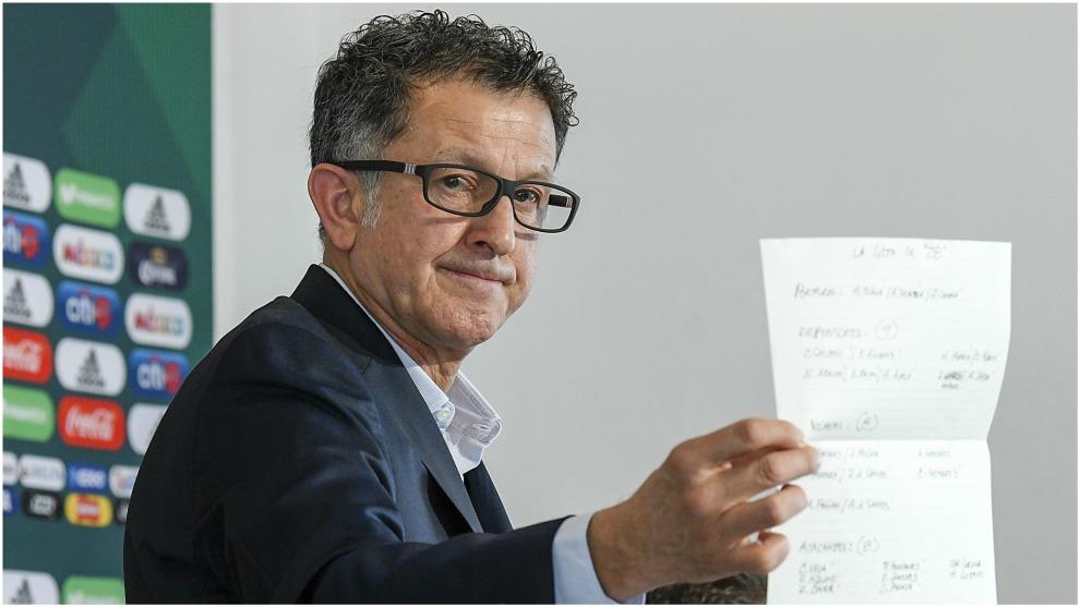 Juan Carlos Osorio, durante la rueda de prensa de la prelista para el...