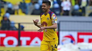 Oribe Peralta durante el partido del Clausura 2018 ante Pachuca.