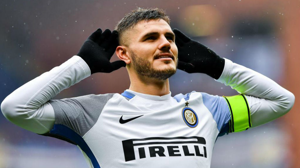 Icardi celebra un gol contra la Sampdoria.