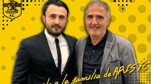 Paco Herrera a su llegada al Aris
