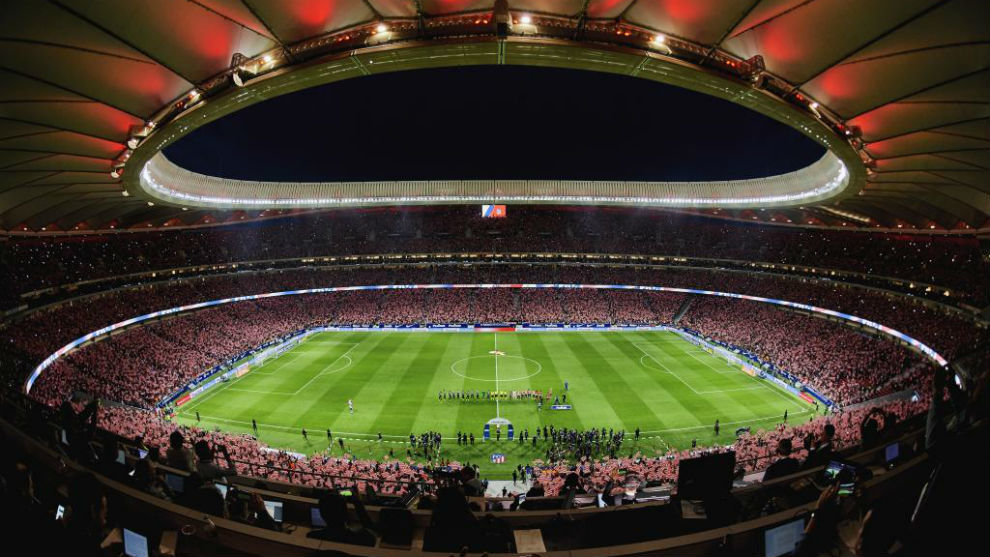 Panorámica de un repleto Wanda Metropolitano.