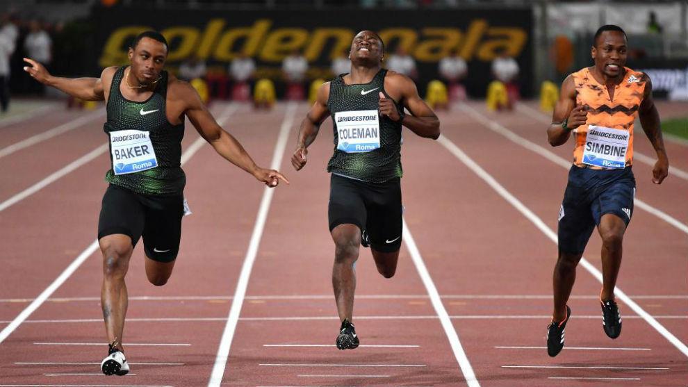 Entrada de la carrera de 100 metros de Roma.