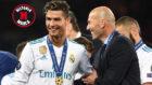 Cristiano y Zidane, tras ganar la Champions en Kiev.