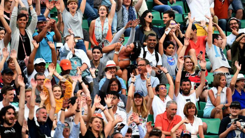 Público en las gradas de Roland Garros