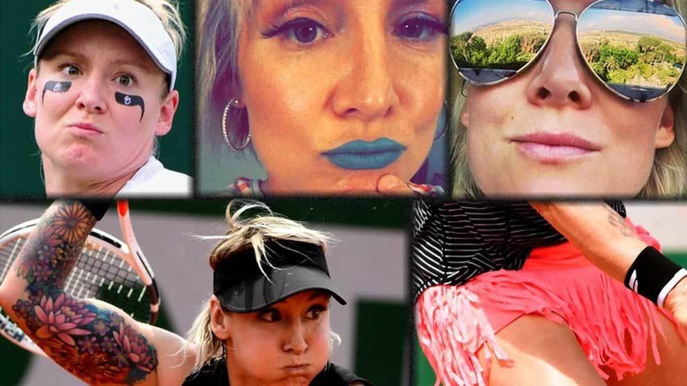 La estadounidense Bethanie Mattek-Sands, la protagonistas de los...