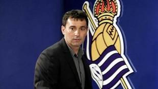 Garitano, en su presentación como técnico de la Real.