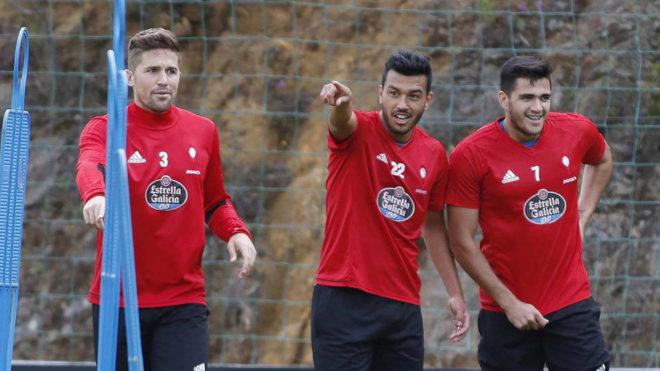 Cabral y Fontàs, en un entrenamiento con Maxi.