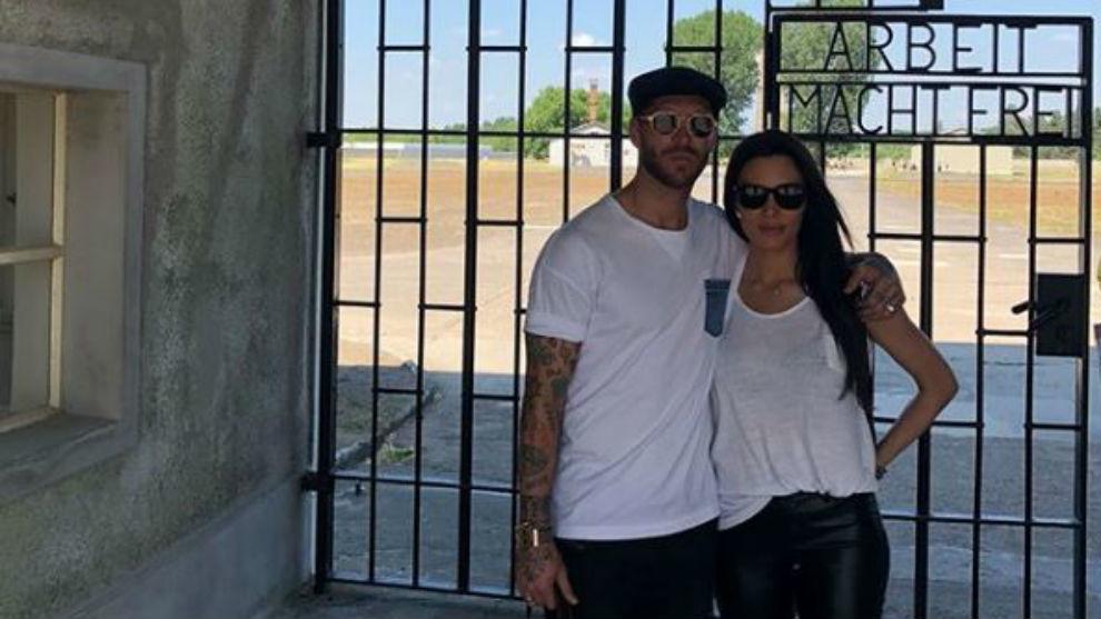 Sergio Ramos y Pilar Rubio visitaron el campo de concentración de...