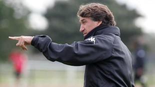 Esteban Vigo durante su época como técnico del Xerez