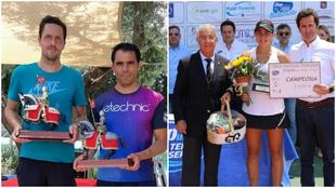 Villacorta y Muñoz y Expósito, con sus trofeos