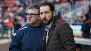 Jordi Guerreo y Pablo Machín, en Girona.