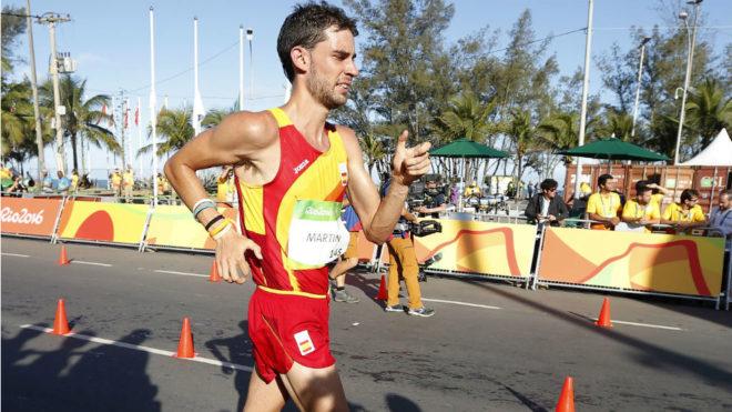 Álvaro Martín, en competición con el equipo nacional