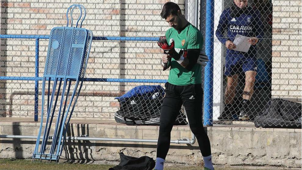 Álvaro Ratón, en un entrenamiento.
