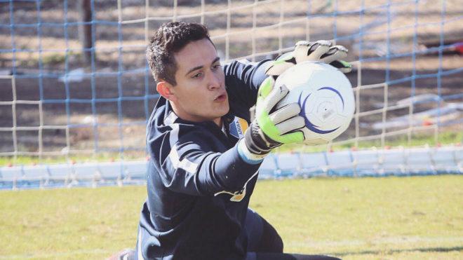 Raúl Gudiño, en un entrenamiento con el APOEL