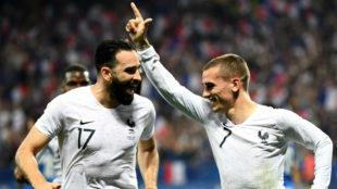 Griezmann celebrando su tanto de penalti ante Italia