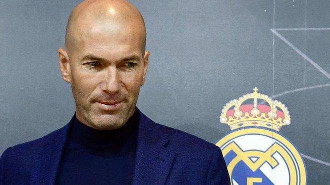 Zidane, el día de su despedida del Real Madrid.