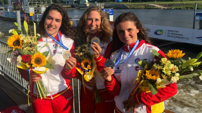 Lzkano, Vilarrubla y Olazábal, con la medalla de bronce