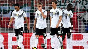 Alemania tras el segundo gol de Austria