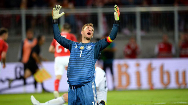 Germany's Neuer makes first start for eight months