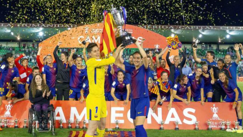 Ràfols y Unzué levantan la Copa de la Reina.