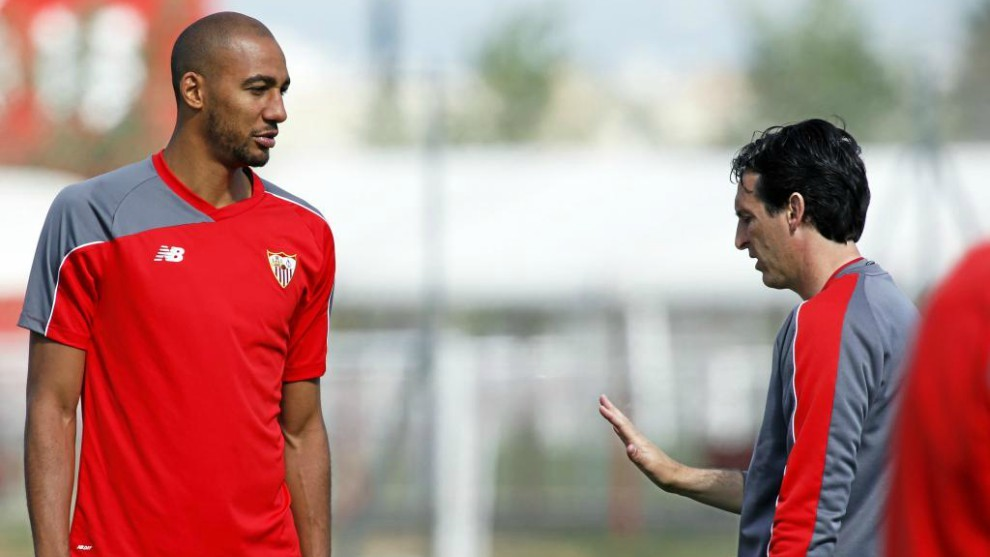 Steven N'Zonzi and Unai Emery