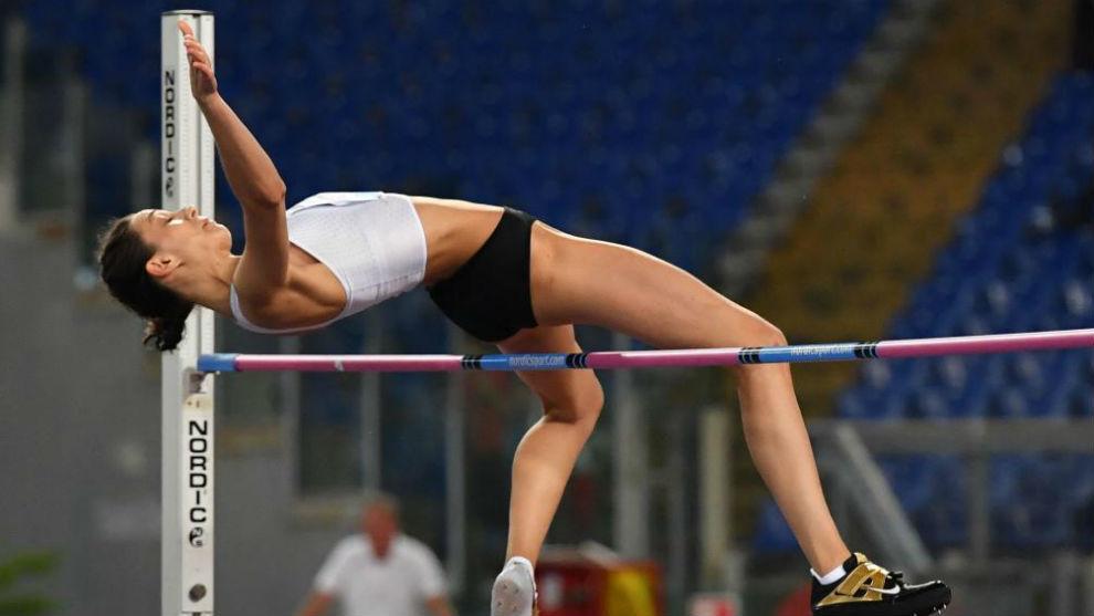Mariya Lasitskene, en una competición