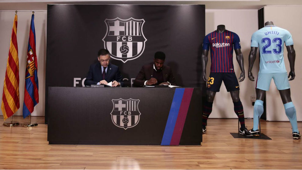 cheap for discount 36ed9 29c2c LaLiga - Barcelona: Umtiti: I couldn't leave Barcelona, this ...