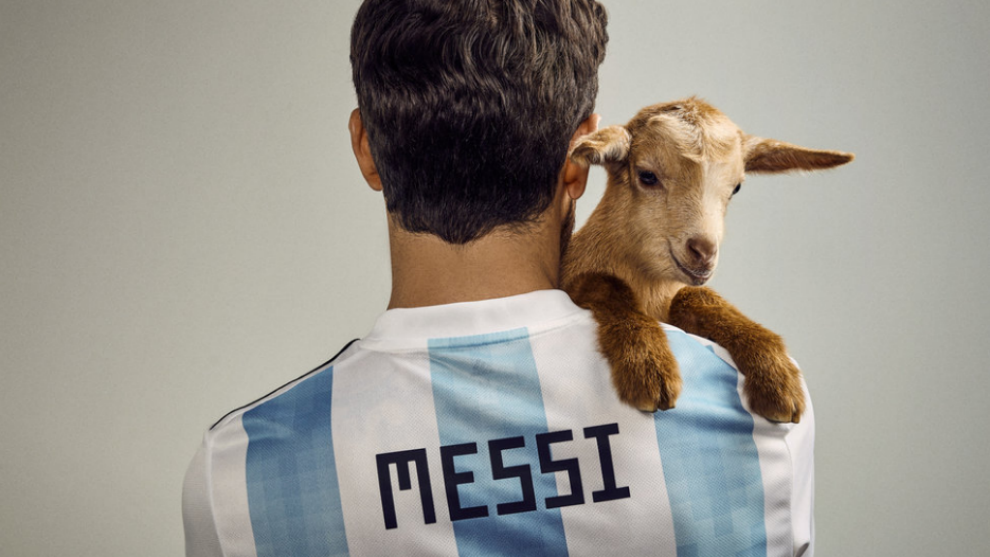 Lionel Messi Poses With Actual Goats For PAPER Mag Cover