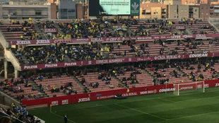Afición del Cádiz CF en la previa al Granada CF - Cádiz CF