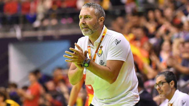 El seleccionador Carlos Viver, en un partido.