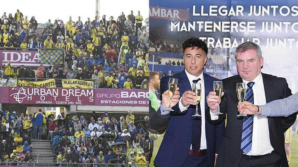 La afición no faltó en Granada... mientras Pina y Vizcaíno brindan...