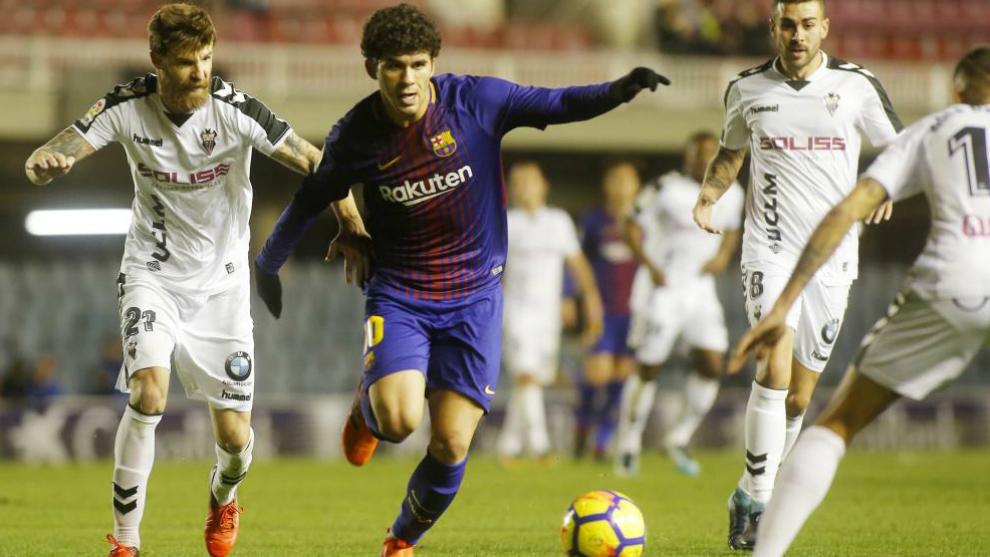 Aleñá, en un partido del Barcelona B.