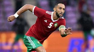 Benatia, durante un partido con Marruecos.