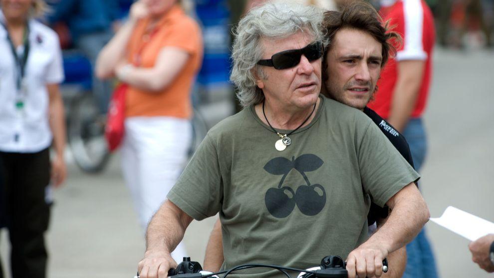Ángel Nieto junto a su hijo Pablo