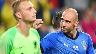 Zaza celebra el gol ante Holanda.