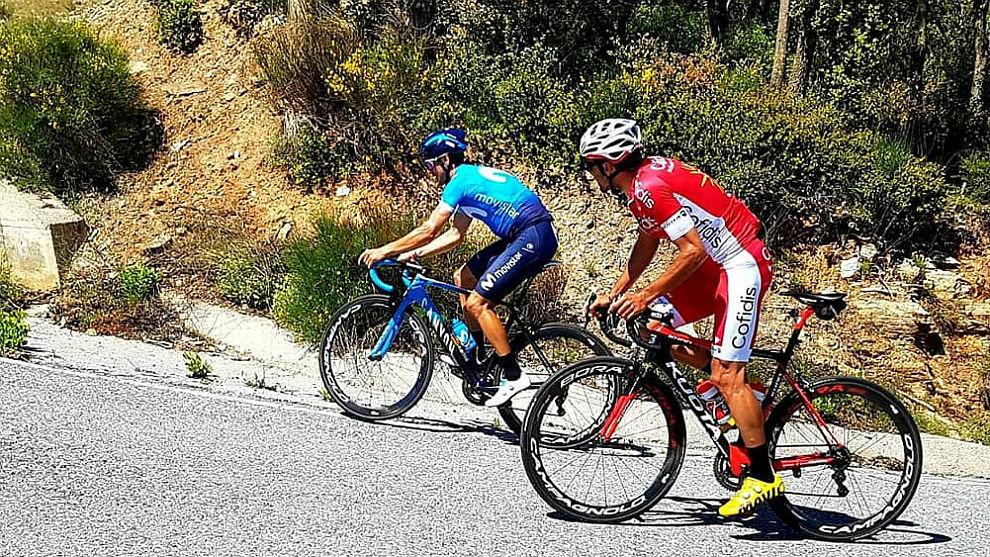 Valverde, estos días, entrenándose en Sierra Nevada, junto al...