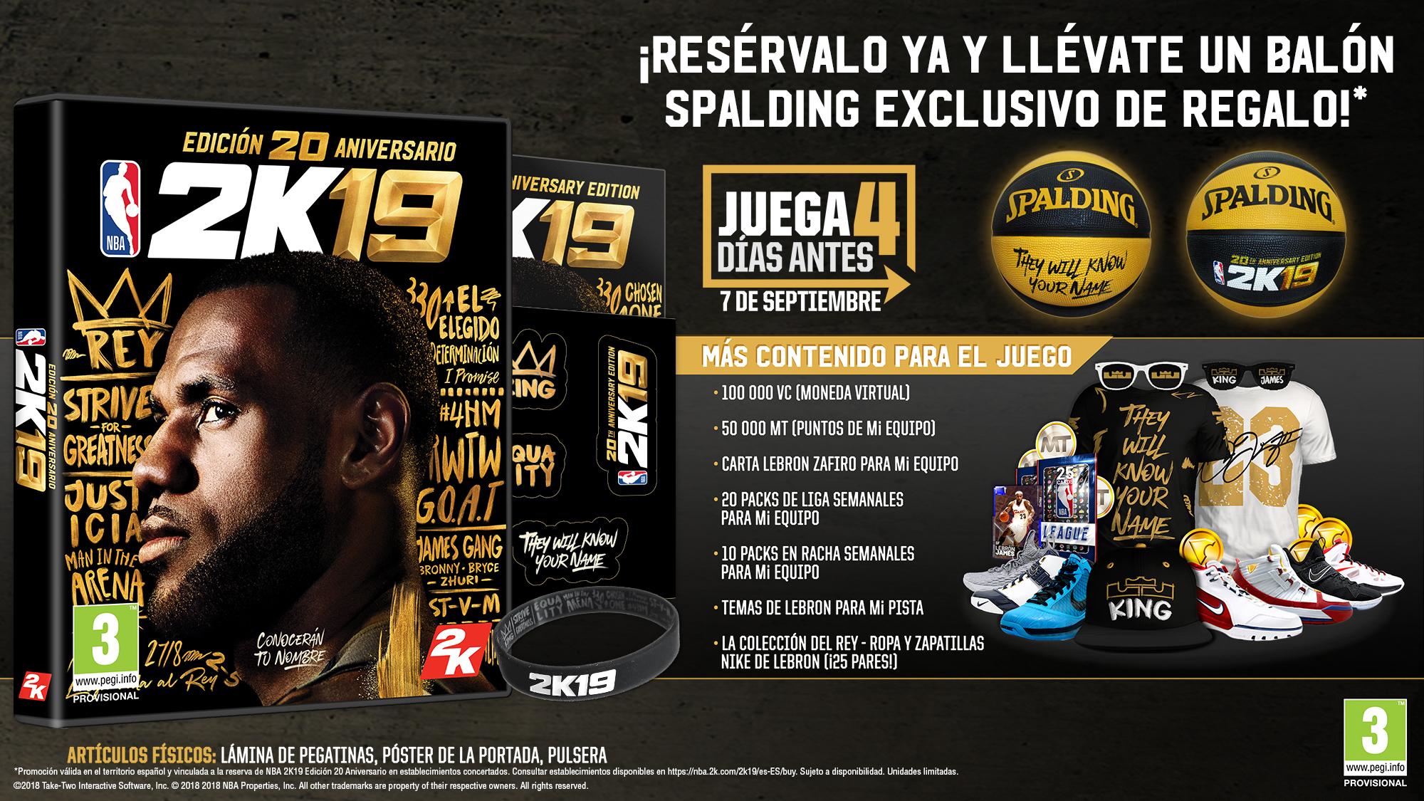 LeBron James, portada del NBA 2K19 en su 20º aniversario