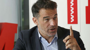 Luis García durante la entrevista en MARCA