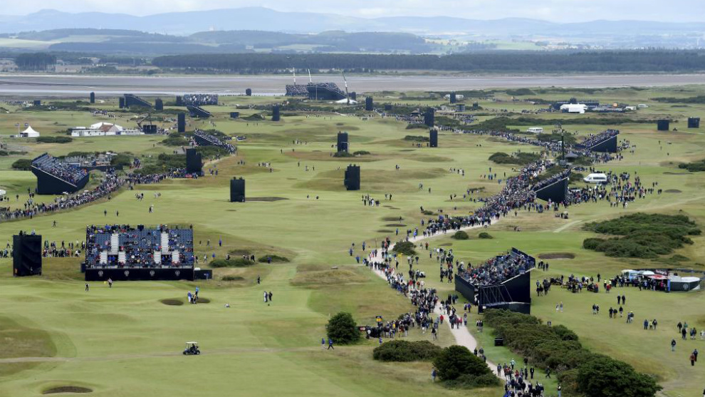 Vista del campo de golf de Saint Andrews.