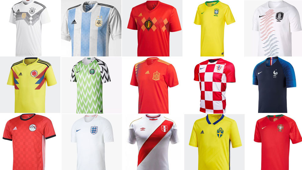 488d542bc22468 Mundial 2018 Rusia: Las 32 camisetas del Mundial: ¿Cuál es la mas ...