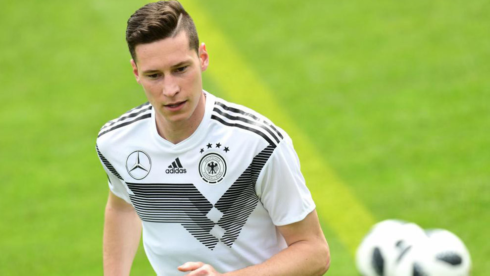 Julian Draxler with the German national team