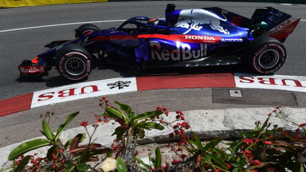 Hartley, con el Toro Roso Honda, en el pasado GP de Mónaco.
